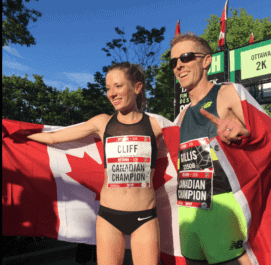 Cliff, Gillis earn Canadian 10km titles