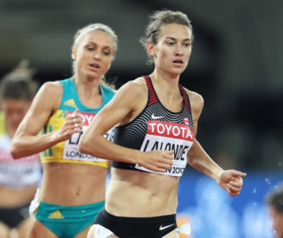 Bishop advances to 800m final, Emmanuel 7th in 200m; Lalonde sets Canadian record