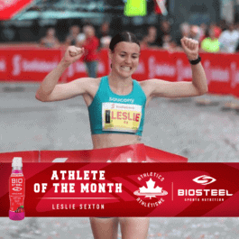 Sexton named Athletics Canada/Biosteel Athlete of the Month