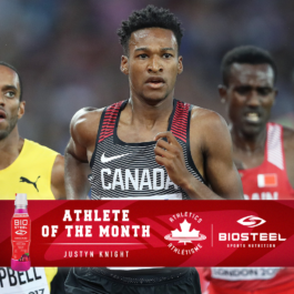 Justyn Knight named Athletics Canada / BioSteel Athlete of the Month