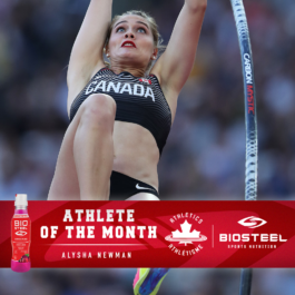 Alysha Newman named Athletics Canada / BioSteel Athlete of the Month