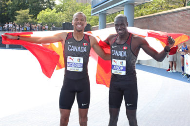 Athletes brought the heat on Day 2 of the NACAC Championships