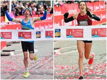 Cameron Levins breaks Canadian marathon record; Marathon debutant Kinsey Middleton crowned 2018 Canadian Champion