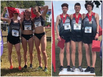 Canada's U20 women and men sweep the podium at the 2019 NACAC Cross Country Championships