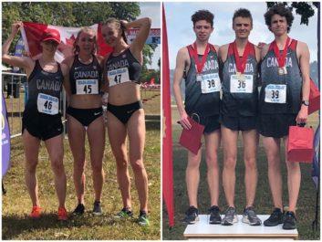 Balayage canadien des podiums U20 aux Championnats de cross-country de la NACAC 2019